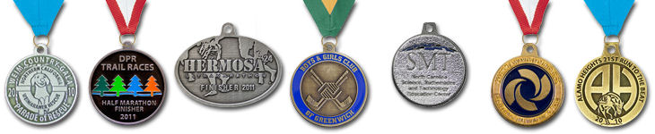 Custom designed medals - sports, corporation, recognition, awards